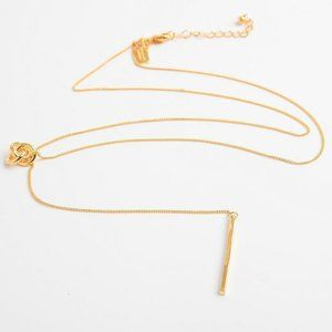 Kate Spade Simple Y-shaped Button Knot Necklace